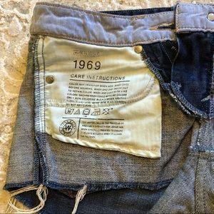 GAP Shorts - Gap 1969 denim ripped shorts 26/2 - dark